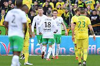 FOTBALL : Nantes vs Saint Etienne - Ligue 1 - 10/01/2016 Alexander SØDERLUND (asse) -NOLAN ROUX (asse) - Alexander SODERLUND (asse) - JOIE<br /> <br /> Norway only