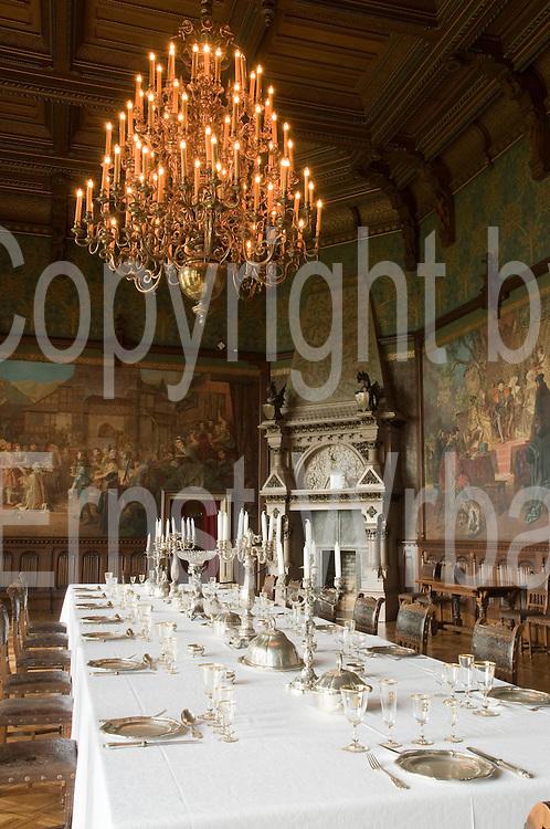 Schloss Wernigerode, Festsaal, Wernigerode, Harz, Sachsen-Anhalt, Deutschland | Banqueting Hall, Castle Wernigerode, Harz, Saxony-Anhalt, Germany