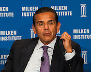 Antonio Villaraigosa, Former Los Angeles Mayor; Professor of Practice of Policy, USC Price School of Public Policy; Former Speaker of the California Assembly, in a panel during the Milken Institute Global Conference on Monday, April 28, 2014 in Beverly Hills, California. (Photo by Ringo Chiu/PHOTOFORMULA.com)