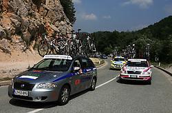 Car of KK Adria Mobil during 1st stage of the 15th Tour de Slovenie from Ljubljana to Postojna (161 km) , on June 11,2008, Slovenia. (Photo by Vid Ponikvar / Sportal Images)/ Sportida)