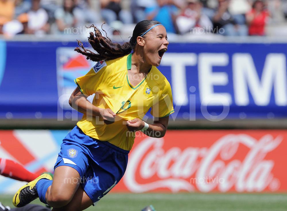 Fussball Frauen FIFA U 20  Weltmeisterschaft 2008     23.11.2008 Mexiko - Brasilien  JUBE BRA, Torschuetzin zum 0-1 Pamela