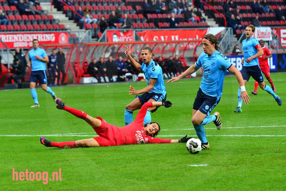 Nederland, Enschede, Grolsch Veste 20nov2016 eredivisie wedstrijd FCTwente FCUtrecht ruststand 1-1 Ook na de rust wist FCTwente ondanks overwicht en druk op het doel de wedstrijd niet af te maken. Veel kansen geen extra doelpunten.