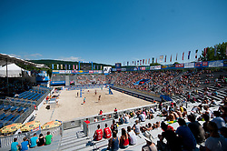 View on the main court at A1 Beach Volleyball Grand Slam presented by ERGO tournament of Swatch FIVB World Tour 2012, on July 18, 2012 in Klagenfurt, Austria. (Photo by Matic Klansek Velej / Sportida)