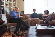 The dean College of Arts and Sciences, Robert Frank, hosted a meet and greet with select Ohio University students at his home in Athens, Ohio on Sunday, February 24, 2013. Photo by Chris Franz College of Arts and Sciences Dean Robert Frank
