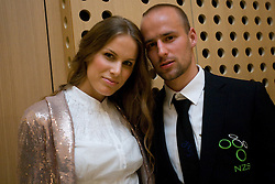 Miso Brecko with his girlfriend Tamara at official presentation of Slovenian National Football team for World Cup 2010 South Africa, on May 21, 2010 in Congress Center Brdo at Kranj, Slovenia. (Photo by Vid Ponikvar / Sportida)