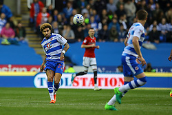 Daniel Williams of Reading chips the ball forwards as Reading attack - Mandatory by-line: Jason Brown/JMP - 16/05/2017 - FOOTBALL - Madejski Stadium - Reading, England - Reading v Fulham - Sky Bet Championship Play-off Semi-Final 2nd Leg