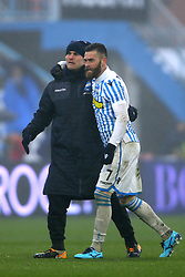 "Foto Filippo Rubin<br /> 03/03/2018 Ferrara (Italia)<br /> Sport Calcio<br /> Spal - Bologna - Campionato di calcio Serie A 2017/2018 - Stadio ""Paolo Mazza""<br /> Nella foto: FEDERICO VIVIANI (SPAL) E MIRCO ANTENUCCI (SPAL)<br /> <br /> Photo by Filippo Rubin<br /> March 03, 2018 Ferrara (Italy)<br /> Sport Soccer<br /> Spal vs Bologna - Italian Football Championship League A 2017/2018 - ""Paolo Mazza"" Stadium <br /> In the pic: FEDERICO VIVIANI (SPAL) AND MIRCO ANTENUCCI (SPAL)"