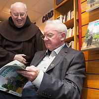 Fr. Cletus ofm. with Donncha O Dúlaing at launch of his new book at the Ennis Bookshop