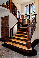 Custom Mahogany and Oak Staircase