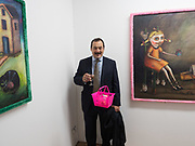 JOEY IMOSSI; Gibraltar as seen by five artists. private view hosted by the Chief Minister of Gibraltar. Art Bermondsey project Space. 24 October 2017