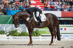 Helen Langehanenberg, (GER), Damon Hill NRW - Freestyle Grand Prix Dressage - Alltech FEI World Equestrian Games™ 2014 - Normandy, France.<br /> © Hippo Foto Team - Jon Stroud<br /> 25/06/14
