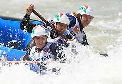 Women Kanyon Raft Team of Hungary at Euro Cup 2009 R6 Rafting in TT & H2H and Slovenian National Championship 2009, on April 4, 2009, in Tacen, Ljubljana, Slovenia. (Photo by Vid Ponikvar / Sportida)