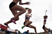 HELSINGBORG, SVERIGE 2017-08-26: Frida Kristiansson fr&aring;n &Ouml;rgryte IS under damernas 3000 meters final under SM i friidrott p&aring; Hedens IP, Helsingborg den 26 augusti 2017. Foto: Lars Dareberg/Ombrello<br /> ***BETALBILD***