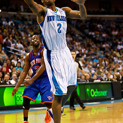 December 3, 2010; New Orleans, LA, USA; New Orleans Hornets point guard Jarrett Jack (2) during the first half against the New York Knicks at the New Orleans Arena. The Knicks defeated the Hornets 100-92. Mandatory Credit: Derick E. Hingle