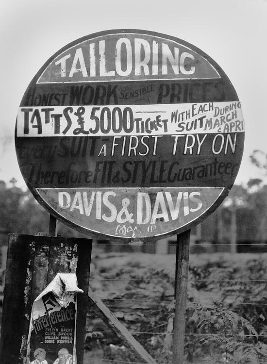 Tailor's Advertisement Giving Away Tattersall Tickets, Australia, 1930