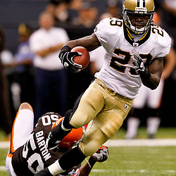Oct 24, 2010; New Orleans, LA, USA; New Orleans Saints running back Chris Ivory (29) runs against the Cleveland Browns during the first half at the Louisiana Superdome. Mandatory Credit: Derick E. Hingle