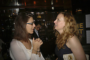 Michelle Lavery and  Jessica BUFORD, publication party for Bill Buford and his memoir HEAT. Hosted by Marco Pierre White at 'Frankie's. Knightsbridge. 10 July 2006. ONE TIME USE ONLY - DO NOT ARCHIVE  © Copyright Photograph by Dafydd Jones 66 Stockwell Park Rd. London SW9 0DA Tel 020 7733 0108 www.dafjones.com