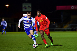 HIGH WYCOMBE, ENGLAND - Monday, March 6, 2017: Liverpool's Sheyi Ojo in action against Reading during the FA Premier League 2 Division 1 Under-23 match at Adams Park Stadium. (Pic by David Rawcliffe/Propaganda)