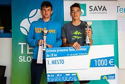 during final of Državno prvenstvo v tenisu Ptuj, on May 30th, 2019 in Radenci, Slovenia. Photo by Blaž Weindorfer / Sportida