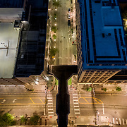 Above Main & Petticoat, downtown Kansas City, Missouri