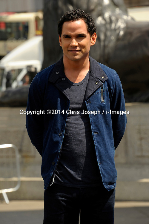 Image ©Licensed to i-Images Picture Agency. 02/07/2014. London, United Kingdom. Reece Ritchie attends a photocall for 'Hercules' at Trafalgar Square. Picture by Chris Joseph / i-Images