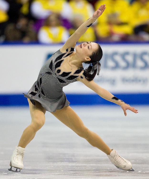 GJR -20111028- Mississauga, Ontario,Canada-  Akiko Suzuki of Japan skates her short program at Skate Canada International, October 28, 2011.<br /> AFP PHOTO/Geoff Robins