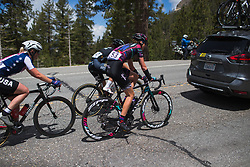Christa Riffel (GER) of CANYON//SRAM Racing climbs on Stage 2 of the Amgen Tour of California - a 108 km road race, starting and finishing in South Lake Tahoe on May 18, 2018, in California, United States. (Photo by Balint Hamvas/Velofocus.com)
