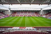 General view inside Tynecastle Park, Edinburgh, Scotland before the Ladbrokes Scottish Premiership match between Heart of Midlothian and Rangers FC on 20 October 2019.