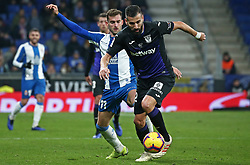 January 4, 2019 - Barcelona, Spain - Leo Baptistao and Siovas during the match between RCD Espanyol and CD Leganes, corresponding to the week 18 of the Liga Santander, played at the RCDE Stadium on 04th January 2019 in Barcelona, Spain. (Credit Image: © Joan Valls/NurPhoto via ZUMA Press)