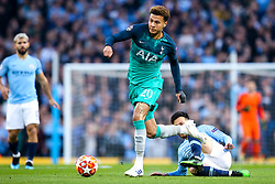 Dele Alli of Tottenham Hotspur goes past David Silva of Manchester City - Mandatory by-line: Robbie Stephenson/JMP - 17/04/2019 - FOOTBALL - Etihad Stadium - Manchester, England - Manchester City v Tottenham Hotspur - UEFA Champions League Quarter Final 2nd Leg