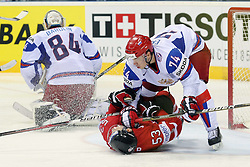 12.05.2011, Orange Arena, Bratislava, SVK, IIHF 2011 World Championship, Canada vs Russia, im Bild YEMELIN ALEXEI PENALTY ON JEFF SKINNERA. EXPA Pictures © 2011, PhotoCredit: EXPA/ EXPA/ Newspix/ .Tadeusz Bacal +++++ ATTENTION - FOR AUSTRIA/(AUT), SLOVENIA/(SLO), SERBIA/(SRB), CROATIA/(CRO), SWISS/(SUI) and SWEDEN/(SWE) CLIENT ONLY +++++