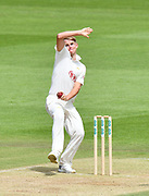 Sam Curran of Surrey bowling during the Specsavers County Champ Div 1 match between Hampshire County Cricket Club and Surrey County Cricket Club at the Ageas Bowl, Southampton, United Kingdom on 11 June 2018. Picture by Graham Hunt.