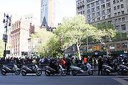 29 April 2010 New York, NY- Atmosphere at The March on Wall Street held at City Hall Park with proceeding March on Wall Street Protest on April 29, 2010 in New York City.