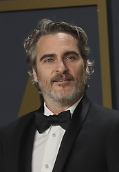 "February 9, 2020, Hollywood, California, USA: Joaquin Phoenix, winner of the Actor in a Leading Role award for ""Joker,"" poses in the press room of the 92nd Academy Awards on Sunday February 9, 2020 at the Dolby Theater in Hollywood, California. BURT HARRIS/BNS/PI (Credit Image: © Prensa Internacional via ZUMA Wire)"