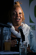 "Chef Nyanyika Banda responds to a question during the ""Corner Table Podcast"" recording at Old Sugar Distillery in Madison, Wisconsin, Tuesday, June 18, 2019."