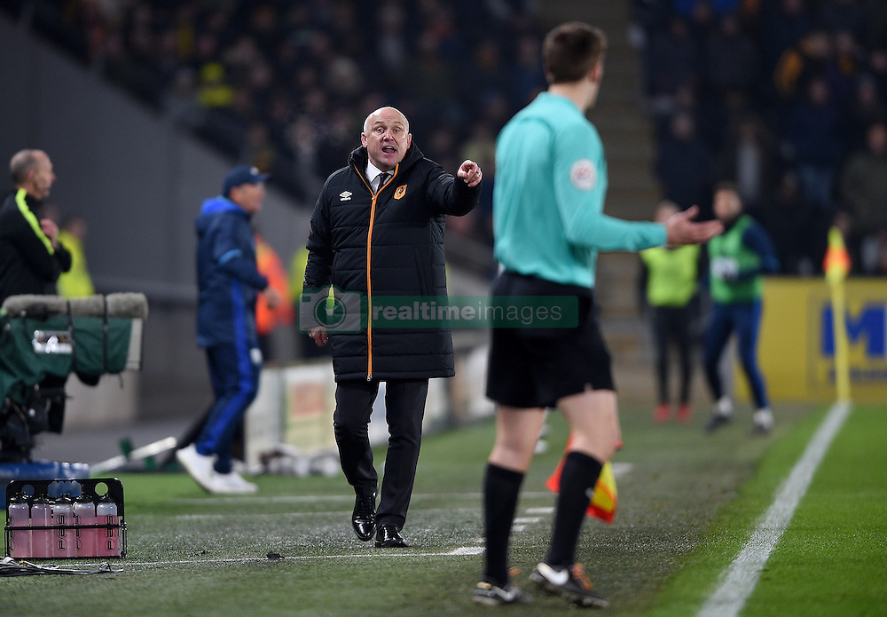 "Hull City manager Mike Phelan gestures on the touchline during the Premier League match at the KCOM Stadium, Hull. PRESS ASSOCIATION Photo. Picture date: Saturday November 26, 2016. See PA story SOCCER Hull. Photo credit should read: Daniel Hambury/PA Wire. RESTRICTIONS: EDITORIAL USE ONLY No use with unauthorised audio, video, data, fixture lists, club/league logos or ""live"" services. Online in-match use limited to 75 images, no video emulation. No use in betting, games or single club/league/player publications."