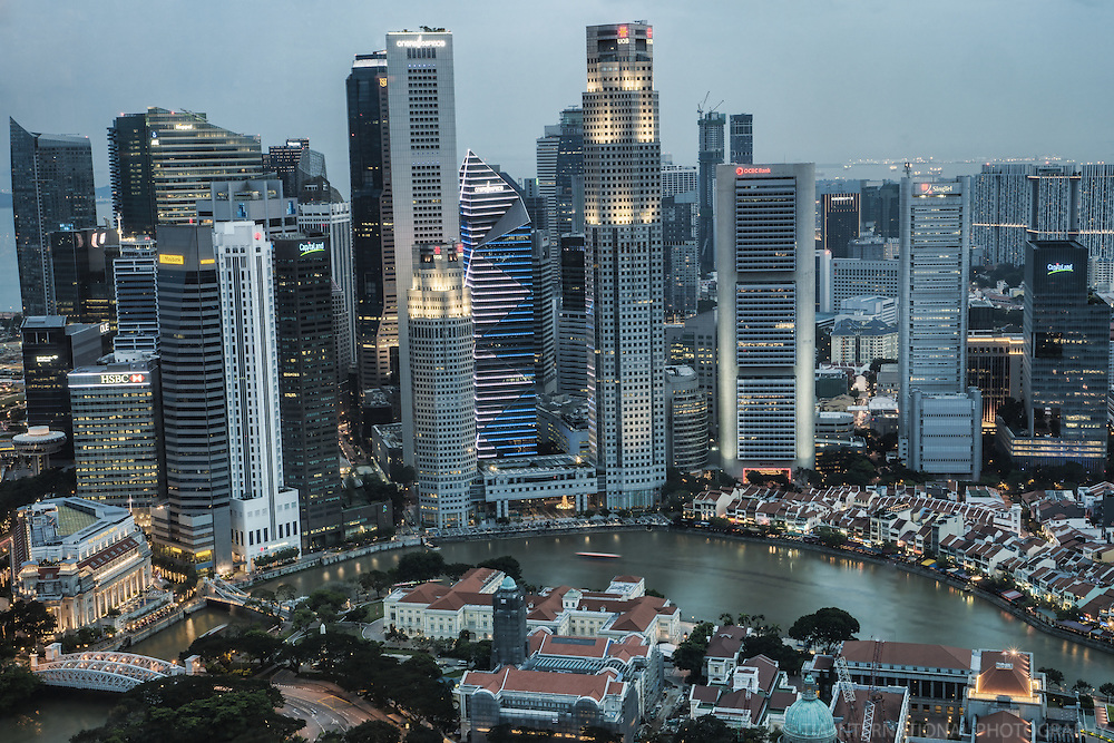 Singapore, Downtown Core (color)