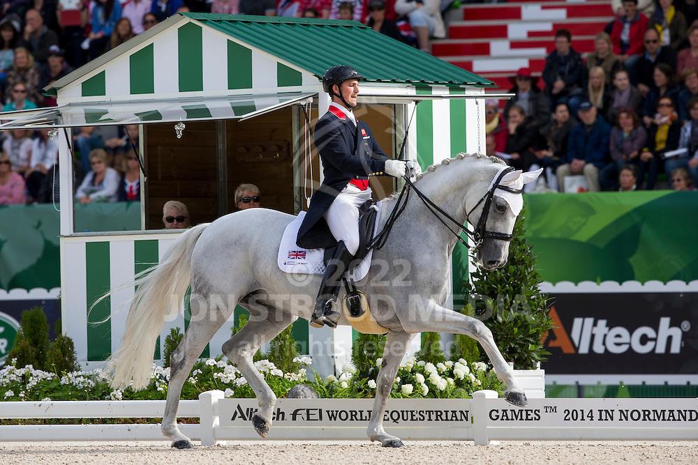 Michael Eilberg, (GBR), Half Moon Delphi - Grand Prix Special Dressage - Alltech FEI World Equestrian Games&trade; 2014 - Normandy, France.<br /> &copy; Hippo Foto Team - Leanjo de Koster<br /> 25/06/14