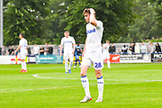 Leeds United (18) reacts during the Pre-Season Friendly match between Tadcaster Albion and Leeds United at i2i Stadium, Tadcaster, United Kingdom on 17 July 2019.