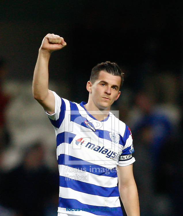 Picture by Andrew Tobin/Focus Images Ltd. 07710 761829. 23/10/11. Joey Barton (17) of QPR celebrates their 1-0 win over Chelsea after the Barclays Premier League match between QPR and Chelsea at Loftus Road, London.