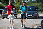 Forest Green Rovers  Lewis Thomas and James Montgomery during the first day back at training for Forest Green Rovers at the New Lawn, Forest Green, United Kingdom on 2 July 2018. Picture by Shane Healey.