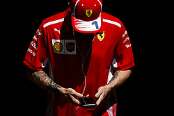 April 27, 2018 - Baku, Azerbaijan - RAIKKONEN Kimi (fin), Scuderia Ferrari SF71H, portrait during the 2018 Formula One World Championship, Grand Prix of Europe in Azerbaijan from April 26 to 29 in Baku - Photo  /  Motorsports: World Championship; 2018; Grand Prix Azerbaijan, Grand Prix of Europe, Formula 1 2018 Azerbaijan Grand Prix, (Credit Image: © Hoch Zwei via ZUMA Wire)
