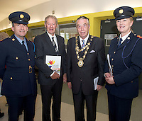 Inspector Mick O Dwyer with  Micheal O'Mhuircheataigh  Cllr Padraic Conneely, and Superintendent Marie Skehill  at NUIG for the launch of the Galway Age Friendly Strategy, which sets out a plan to make Galway City and County a great place in which to grow up and grow old. The Strategy was developed following extensive consultation with older people across the city and county and aims to ensure that older people continue to be supported to play an active role in their communities. The launch of the strategy is an important milestone as it sets out a blueprint for how we will plan and develop communities in the coming years to ensure that Galway is a truly great place in which to grow up and grow old. Photo:Andrew Downes