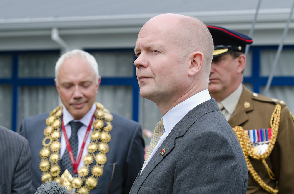 British Foreign Secretary The Right Honourable William Hague, at HMNZS Pegasus while on a visit to Christchurch, New Zealand, Wednesday, January 16, 2013. Credit: SNPA / David Alexander.