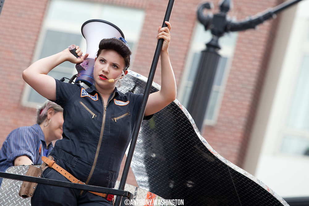 Members of Squonk Opera perform during their GO Roadshow at Artscape 2012 on Sunday, July 22, 2012 in Baltimore, MD.