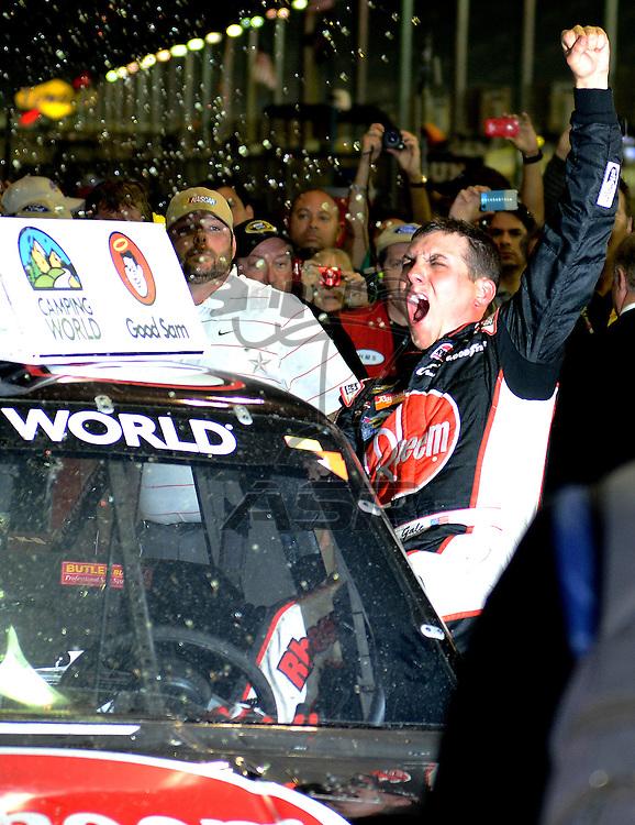 Homestead, FL - Nov 16, 2012: Cale Gale wins the Ford ECOBOOST 200 at the Homestead-Miami Speedway in Homestead, FL.