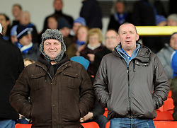 Bristol Rovers fans - Photo mandatory by-line: Neil Brookman/JMP - Mobile: 07966 386802 - 28/02/2015 - SPORT - Football - Gateshead - Gateshead International Stadium - Gateshead v Bristol Rovers - Vanarama Football Conference