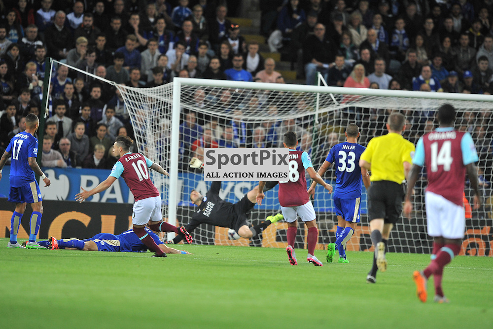 West Ham Mauro Zarate scores West Hams EqualiserLeicester City v West Ham Utd, Carling Cup, King Power Stadium, Tuesday 22nd September 2015.
