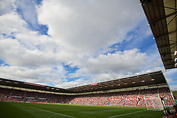 STOKE-ON-TRENT, ENGLAND - Sunday, August 9, 2015: Liverpool take on Stoke City during the Premier League match at the Britannia Stadium. (Pic by David Rawcliffe/Propaganda)