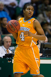 December 22, 2009; San Francisco, CA, USA;  Tennessee Lady Volunteers guard Kamiko Williams (4) during the second half against the San Francisco Dons at War Memorial Gym.  Tennessee defeated San Francisco 89-34.